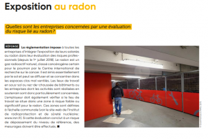 Evaluation du risque radon : une obligation de l'employeur !